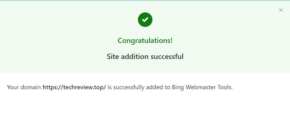Add site to Bing Webmaster Tools