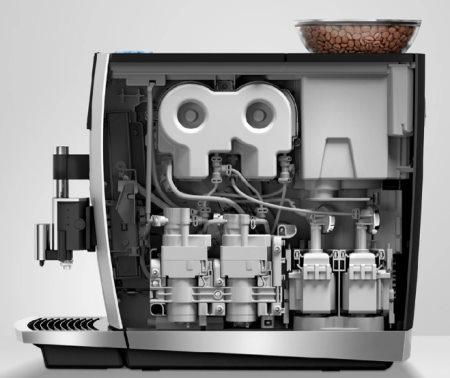Coffee machine inside